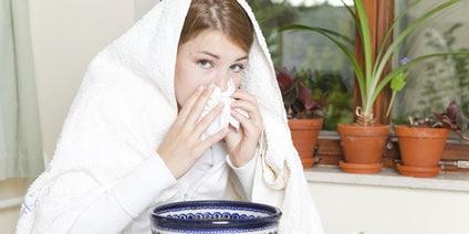 Inhalation bei Erkältung und verstopfter Nase