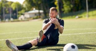 Sportverletzung Fussball